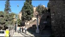 Alcazaba Fortress Tourists Leave tilts