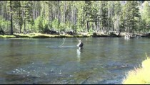 Fly Fisherman Wades in Stream zoom