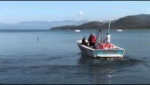 Parasailing Boat zoom pans