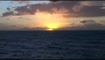 Open Ocean Sunset zoom POV