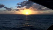 Cruise Ship Balcony Sunset zoom POV