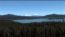 Twin Snowy Peaks Dillon Lake zoom