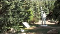 Skier Statue