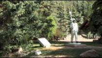 Skier Statue Walker