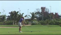 Cancun Woman Golfer Tees Off cu