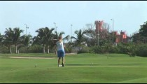 Cancun Woman Golfer Tees Off