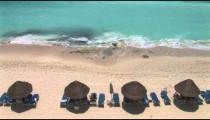 Beach Lounges Surf overhead