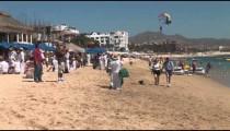 Medano Beach Tourists zoom
