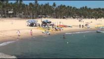 Kayakers on Beach zoom