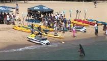 Kayakers on Beach