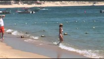 Beach Girl in Surf zoom