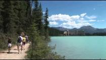 Walkway to Chateau Lake Louise