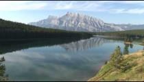 Two Jack Lake Mountains zoom