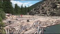 Moraine Lake Log Jam