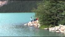 Lake Louise Kids on Rocks zoom
