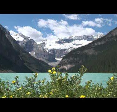 Lake Louise Flowers Mountain Boat