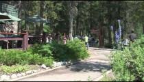 Johnston Canyon Trail zoom