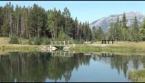 Johnson Lake Footbridge zoom