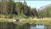 Johnson Lake Footbridge Hiker