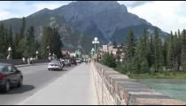 Bridge to Banff Sideway zoom