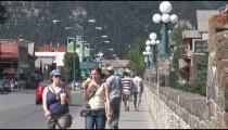 Bridge to Banff Pedestrians zoom