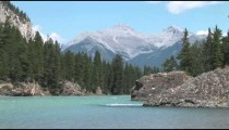 Bow River Rocks and Pines