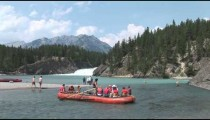 Bow River Raft Comes About