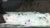 Bow River Falls White Water zoom