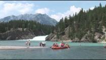 Bow River Raft Enters Flow