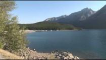 Banff Dam & Lake zoom