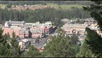 Banff City Center overhead zooms