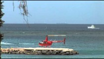 Island Helicopter Takes Off