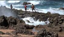 Aruba Ironshore Tourists zoom