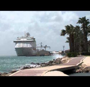 Aruba Cruise Ship Path zoom