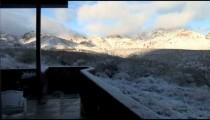 Snow on Tumacacoris from Deck