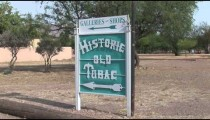 Historic Tubac Sign zooms