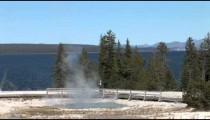 Geyser Field at Yellotone Lake Visitors zoom