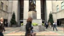 NYC Atlas Statue tilts