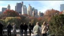 NYC Skyline Central Park People pan