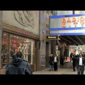 NYC People 50th Street Radio City