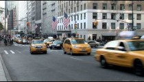 NYC Cabs Turning Left zoom
