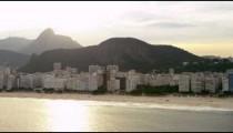 Shot of Rio de Janiero's coastline from the sea