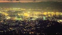 Short clip of the Rio de Janeiro cityscape at night.