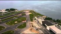 Aerial airport footage - Rio de Janeiro, Brazil.