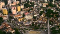 Aerial mapping of Rio's roadways and city design.