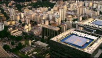 Highly detailed aerial shot of highrise buildings in Rio de Janeiro.