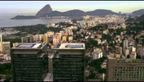 Aerial pan of Rio de Janeiro in high-defintion.
