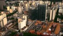 Aerial shot of landmarks - Rio de Janeiro, Brazil.
