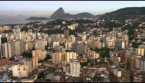 Aeial view of Atlantic Ocean and Rio de Janeiro.