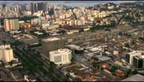 Rio de Janeiro's cityscape and roadways - aerial footage.